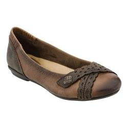 Women's Earth Monarch Flat Almond Tumbled Leather