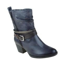 Women's Earth Spruce Buckle Boot Dark Grey Tumbled Leather
