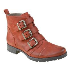 Women's Earthies Carlow Buckle Bootie Red Vintage Leather