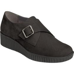 Women's Aerosoles Columbia Slip-On Wedge Black Nubuck