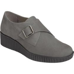 Women's Aerosoles Columbia Slip-On Wedge Dark Gray Nubuck