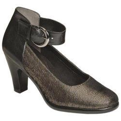 Women's Aerosoles Impressive Ankle Strap Pump Black Herringbone