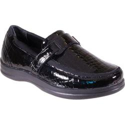 Women's Apex Evelyn Strap Loafer Black Patent Croc