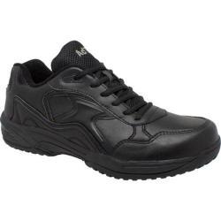 Women's AdTec 8634 Uniform Athletic Lace Up Black Leather