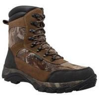 Men's AdTec 9639 10in Waterproof Realtree 400G Camo Boot Brown Leather
