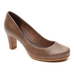 Women's Rockport Total Motion 75mm Pump New Taupe Tumble Goat