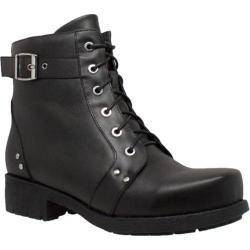 Women's Ride Tecs 8647 Biker Boot Black Leather
