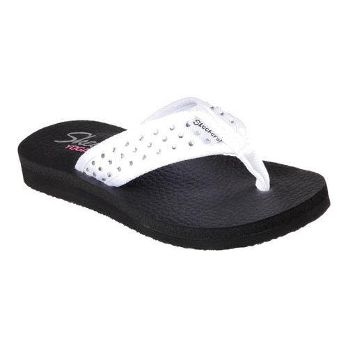 3d6bf7f58c9a Shop Women s Skechers Meditation Sandcastle Thong Sandal White - Free  Shipping On Orders Over  45 - Overstock - 10890304