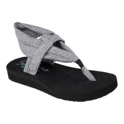 Women's Skechers Meditation Studio Kicks Thong Sandal Gray