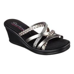 Women's Skechers Rumblers Wild Child Wedge Slide Pewter (More options available)