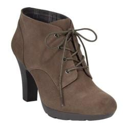 Women's Bandolino Garett Boot Dark Natural Suede