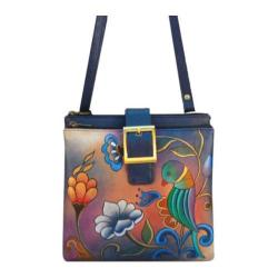 Women's ANNA by Anuschka Hand Painted Triple Compartment Travel Organizer Portuguese Parrot