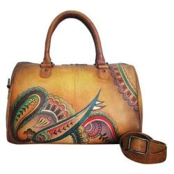 Women's ANNA by Anuschka Large Zip Around Satchel 8039 Royal Paisley
