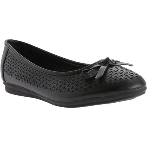 Women's Beacon Shoes Kinsey Flat Black Polyurethane