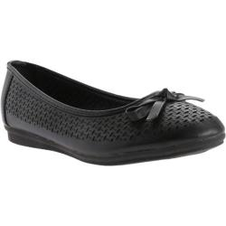 Women's Beacon Shoes Kinsey Flat Black Polyurethane