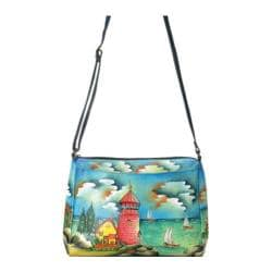 Women's ANNA by Anuschka Hand Painted Medium East West 8073 Lighthouse