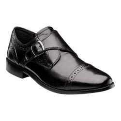 Men's Nunn Bush Newton Cap-Toe Monk Strap Black Leather