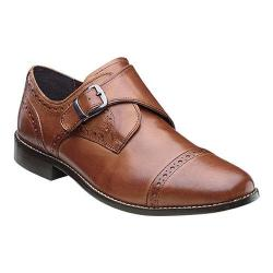 Men's Nunn Bush Newton Cap-Toe Monk Strap Cognac Leather