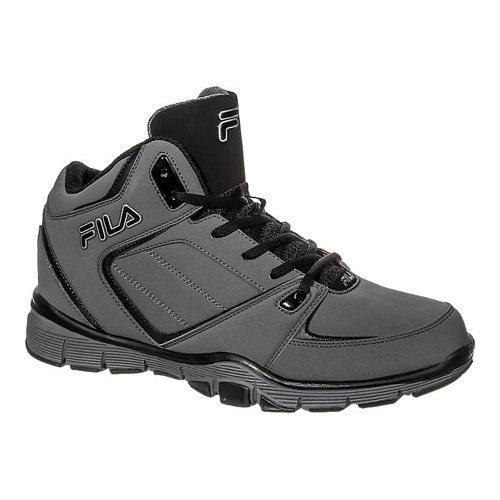 Mens Fila Shake N Bake 3 Basketball Shoe PewterBlack