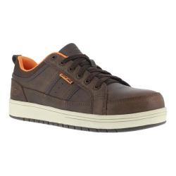 Men's Iron Age Board Rage Steel Toe EH Skate Oxford Brown Leather