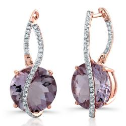 14kt Gold Diamond & Gemstone Abstract Earrings (I-J, I1-I2) - Thumbnail 0