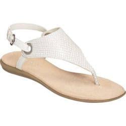 Women's Aerosoles Conchlusion Sandal White Snake Faux Leather