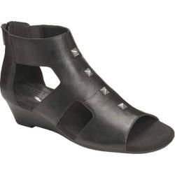 Women's Aerosoles Layette Wedge Sandal Black Leather