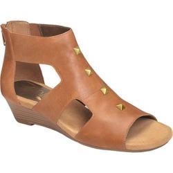 Women's Aerosoles Layette Wedge Sandal Dark Tan Leather