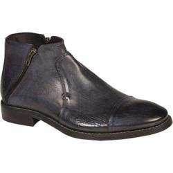 Men's Bacco Bucci City Ankle Boot Navy Calfskin