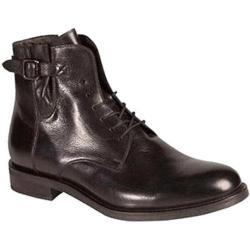 Men's Bacco Bucci Dinamo Ankle Boot Black Calfskin