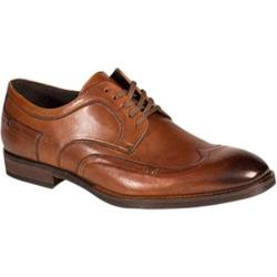 Men's Bacco Bucci Galati Wingtip Oxford Tan Calfskin