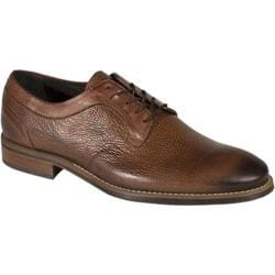 Men's Bacco Bucci Roda Plain Toe Oxford Tan Calfskin