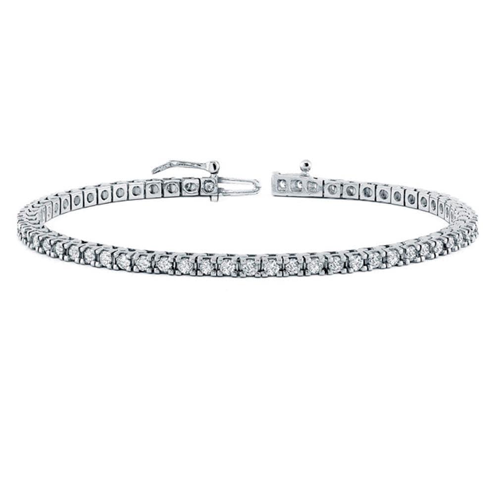 14KT White Gold Tennis Bracelet 4.52ct TWT (I-J COLOR, SI2 CLARITY)