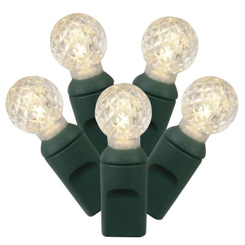 34-foot 100-light Warm White/ Green G12 EC LED Wire