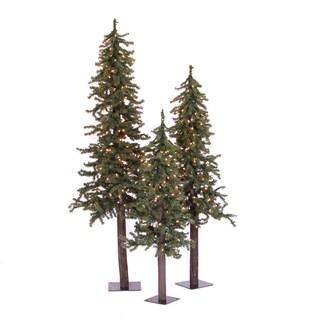 2-foot x 3-foot x 4-foot Natural Alpine Tree Set 633T