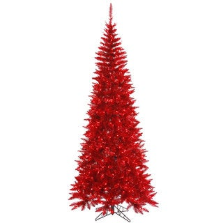 7.5-foot x 40-inch Tinsel Red Slim 500 Red 1238T