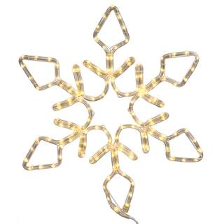 36-inch LED 208-light Pure White Diamond Snowflake