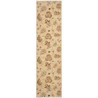 "Safavieh Hand-knotted Agra Beige Wool Rug (2'6"" x 12')"