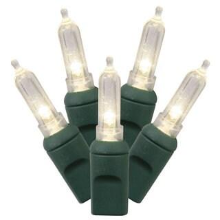 100-light LED Warm White/ Green Wire Italian EC 34-foot