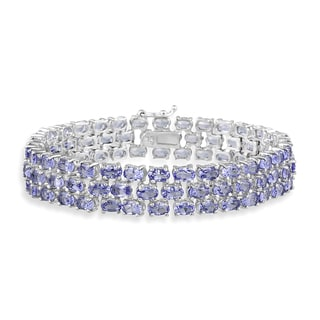 Link to Glitzy Rocks Sterling Silver Tanzanite Bracelet Similar Items in Necklaces