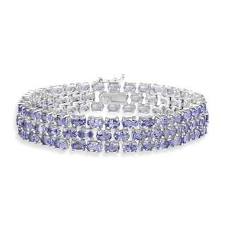 Glitzy Rocks Sterling Silver Tanzanite Bracelet