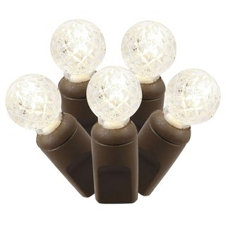 100-light LED Warm White/ Brown Wire G12 EC 34-foot