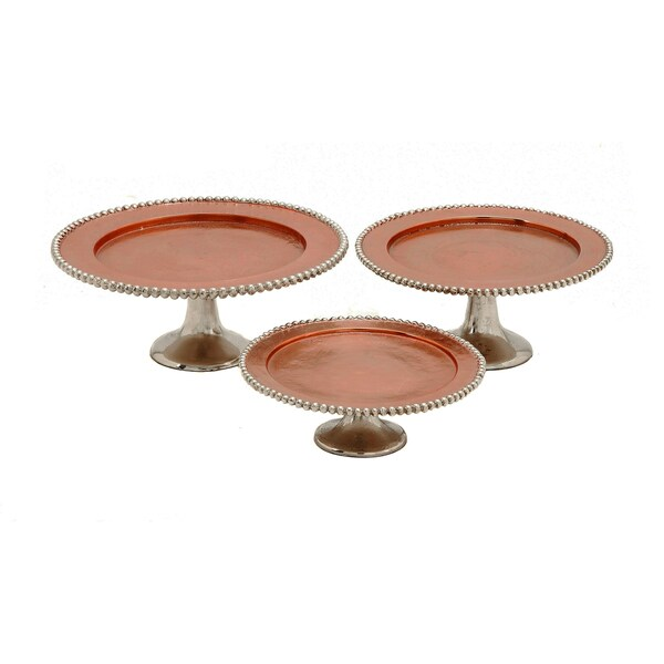 Casa Cortes Event Essentials Round Display Cake and Dessert Stand (Set of 3)