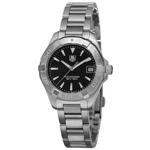 Tag Heuer Women's WAY1310.BA0915 '300 Aquaracer' Black Dial Stainless Steel Bracelet Watch