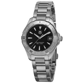 Link to Tag Heuer Women's WAY1310.BA0915 '300 Aquaracer' Black Dial Stainless Steel Bracelet Watch Similar Items in Women's Watches