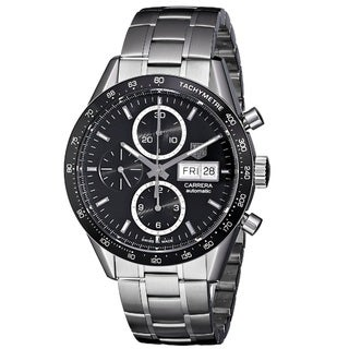 Link to Tag Heuer Men's CV201AG.BA0725 'Carrera' Black Dial Stainless Steel Chronograph Watch Similar Items in Men's Watches