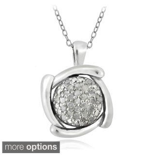 DB Designs Sterling Silver 1/4ct TDW Diamond Circle Necklace