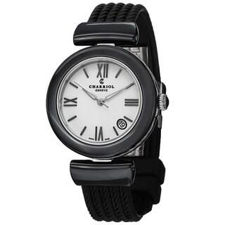 Charriol Women's AE33CB.173.004 'AEL' White Dial Black Rubber Strap Watch