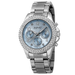 August Steiner Women's AST8136SSLB Swiss Quartz Diamond Silver-Tone Bracelet Watch with FREE Bangle