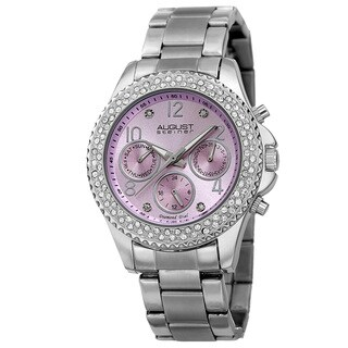 August Steiner Women's AST8136LP Swiss Quartz Diamond Bracelet Watch with FREE Bangle
